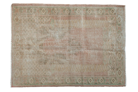 3x4 Vintage Distressed Oushak Square Rug // ONH Item 8098