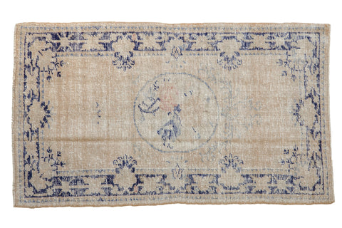 2.5x4.5 Vintage Distressed Oushak Rug // ONH Item 8104