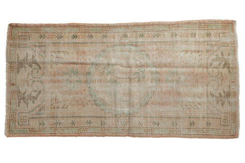 2.5x5.5 Vintage Distressed Oushak Rug Runner // ONH Item 8106