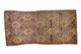1.5x3.5 Vintage Distressed Oushak Rug Mat Runner // ONH Item 8138