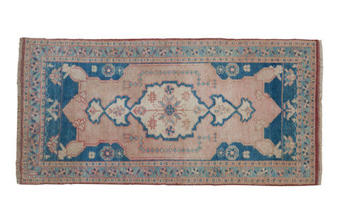 1.5x3.5 Vintage Distressed Oushak Rug Mat Runner // ONH Item 8143