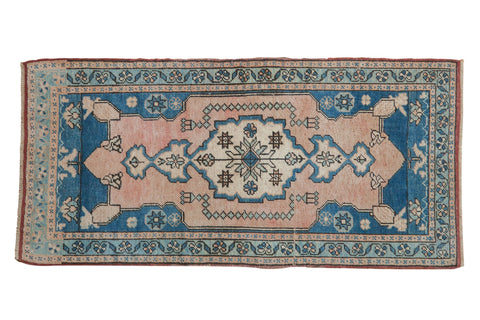 2x4 Vintage Distressed Oushak Rug Runner // ONH Item 8144