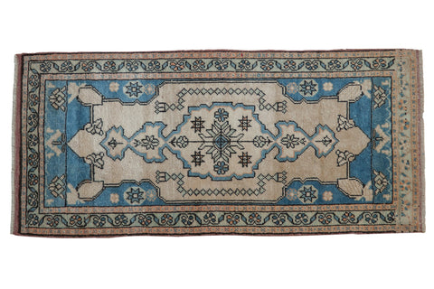 1.5x4 Vintage Distressed Oushak Rug Mat Runner // ONH Item 8146