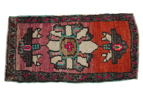 1.5x3.5 Vintage Distressed Oushak Rug Mat Runner // ONH Item 8154
