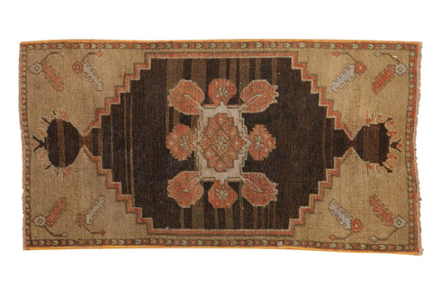 2x3.5 Vintage Distressed Oushak Rug // ONH Item 8177