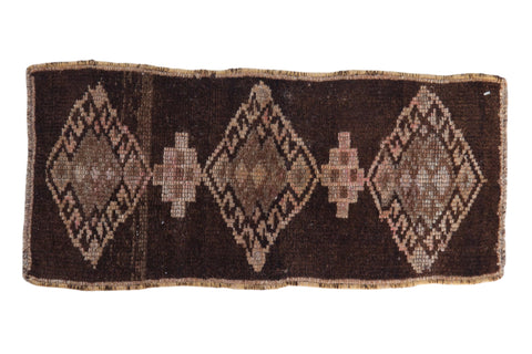 1x2.5 Vintage Distressed Fragment Kars Rug Mat // ONH Item 8179