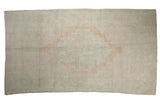 5x9.5 Vintage Distressed Oushak Carpet // ONH Item 8221