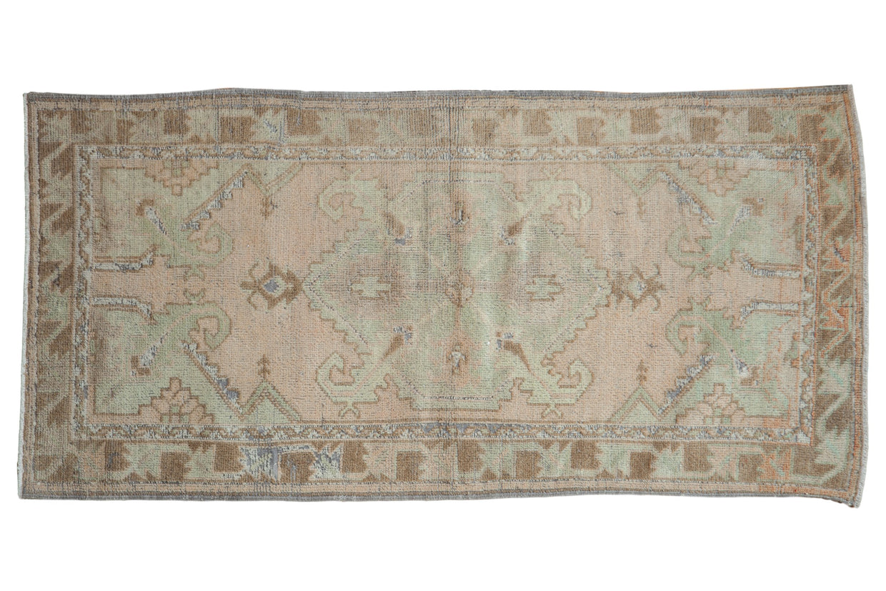 2.5x5.5 Vintage Distressed Oushak Rug Runner // ONH Item 8243
