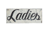 Vintage Ladies Painted Sign