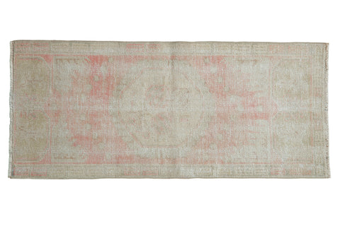 2x4.5 Vintage Distressed Oushak Rug Runner // ONH Item 8285