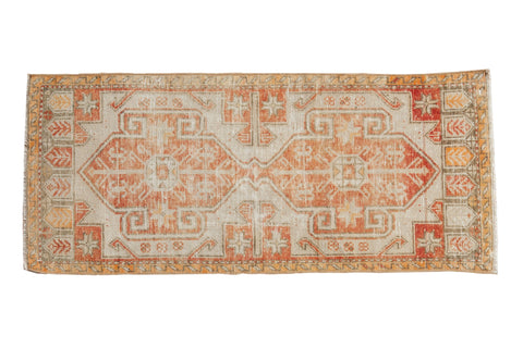 1.5x3.5 Vintage Distressed Oushak Rug Mat Runner // ONH Item 8289