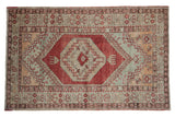 3.5x6 Vintage Distressed Oushak Rug // ONH Item 8314