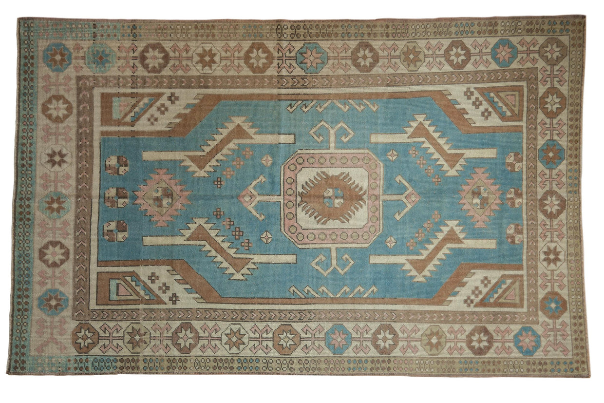 5x8 Vintage Distressed Oushak Carpet // ONH Item 8316