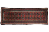3.5x10 Antique Caucasian Rug Runner // ONH Item 8325