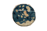 1x1 Antique Peking Round Rug Mat // ONH Item 8331