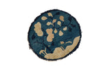 1x1 Antique Peking Round Rug Mat // ONH Item 8332