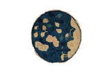 1x1 Antique Peking Round Rug Mat // ONH Item 8333