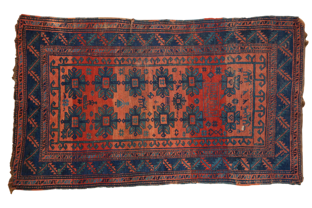 4x7 Antique Caucasian Rug // ONH Item 8353