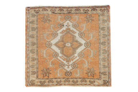 2x2 Vintage Distressed Oushak Square Rug Mat // ONH Item 8384