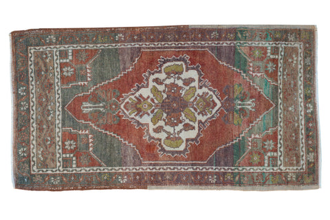 2x3.5 Vintage Distressed Oushak Rug // ONH Item 8386