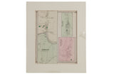 Antique Map Asbury Franklin Township NJ // ONH Item 8468