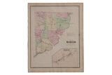 Antique Somers NY Map // ONH Item 8470