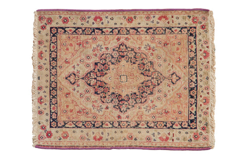 2x2.5 Antique Kerman Square Rug Mat // ONH Item 8490