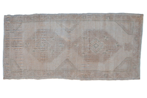 Vintage Distressed Oushak Rug Mat Runner / ONH item 8625
