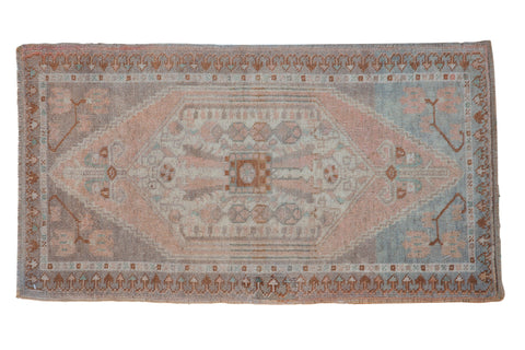 Vintage Distressed Oushak Rug Mat Runner / ONH item 8629