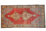 5.5x10.5 Vintage Distressed Oushak Carpet // ONH Item 8746