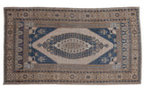 Vintage Distressed Oushak Carpet / ONH item 8922