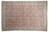 6.5x10 Vintage Distressed Oushak Carpet // ONH Item 9048