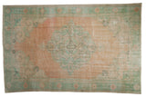 6x9 Vintage Distressed Oushak Carpet // ONH Item 9052