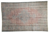 5.5x9 Vintage Distressed Overdyed Oushak Carpet // ONH Item 9053