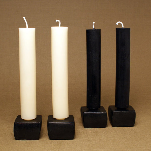 Made in NY Beeswax Candle Column Tapers Wine Red - Old New House
