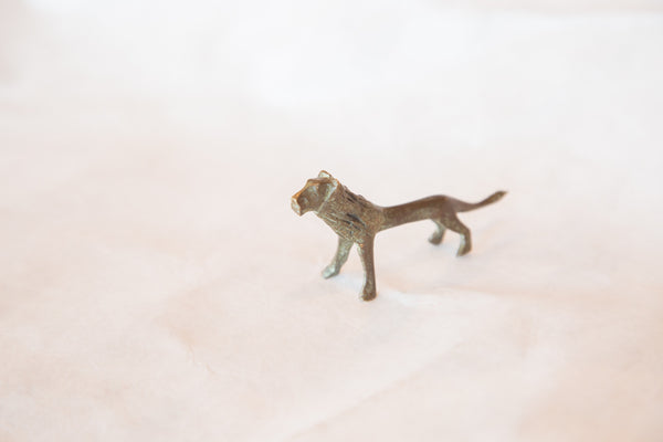 Vintage African Bronze Casting of Lion - Old New House