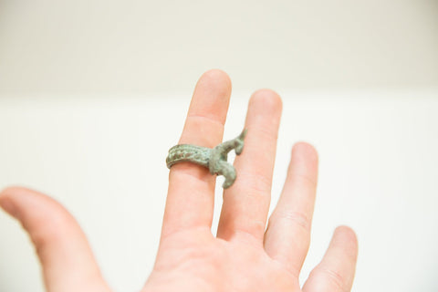 Vintage African Bronze Rooster Ring