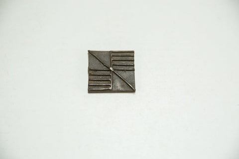 Square African Bronze Coin