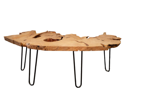 Expressive Live Edge Wood Coffee Table // ONH Item AS5960D6770A