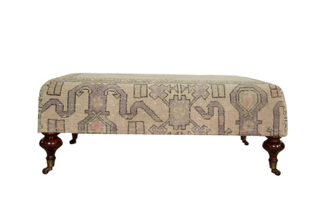 Vintage Turkish Rug Ottoman Coffee Table / Item AS6873D7073A