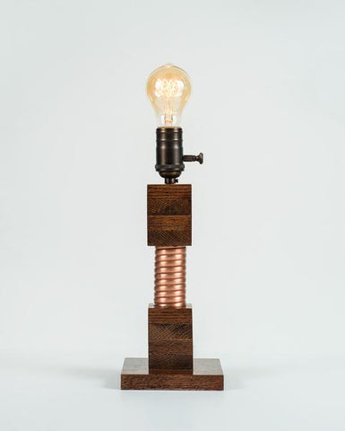Made in USA Small Edison Lamp Square Base // ONH Item CT001134