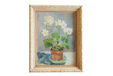 Grace Keogh Potted White Flowers Painting / ONH Item ct001175