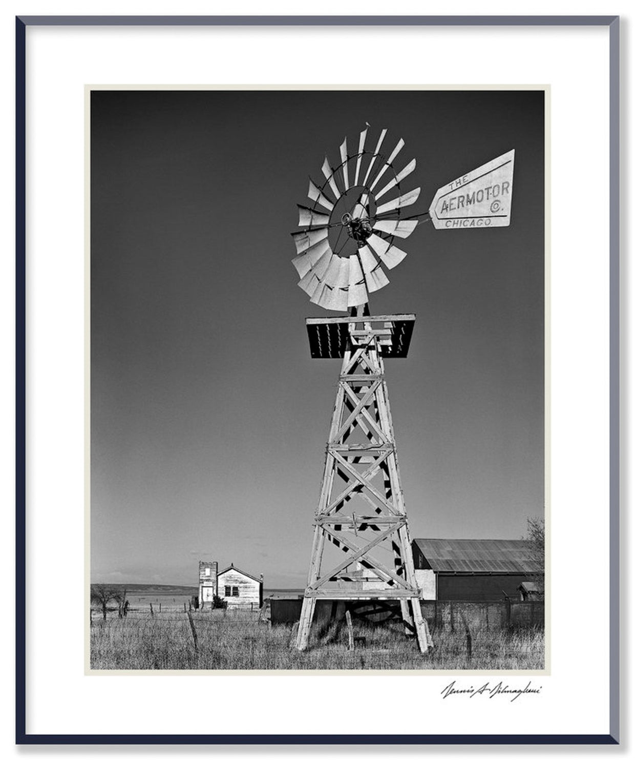 Dilmaghani Black and White Photograph, Aeromotor Windmill, NM