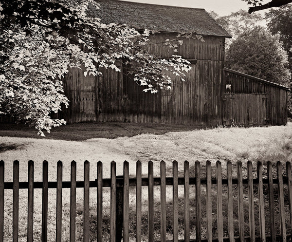 Dilmaghani Black and White Photograph, Old Barn, New Hope, PA