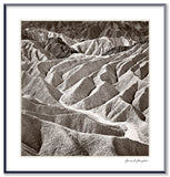 Dilmaghani Black and White Photograph, Zabriskie Badlands, CA