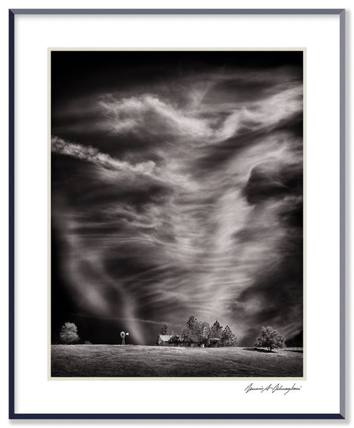 Dilmaghani Black and White Photograph, Dancing Clouds / Active Sky, CA