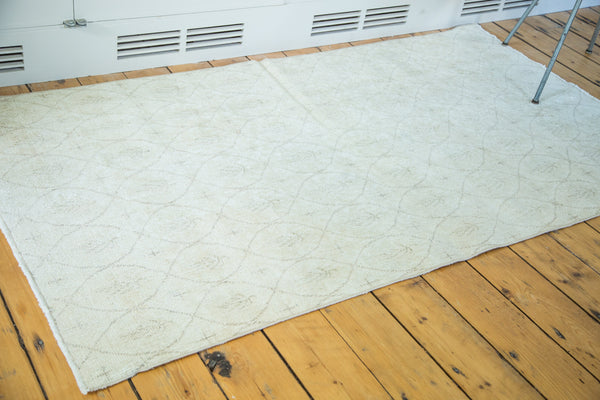 3.5x6.5 Distressed Modern Oushak Rug - Old New House
