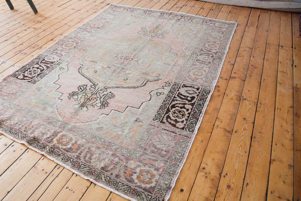 6.5x9.5 Distressed Oushak Carpet - Old New House