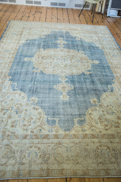 7x11 Distressed Oushak Carpet - Old New House