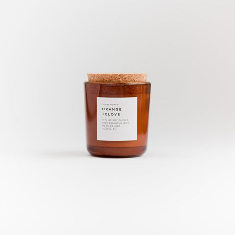 Orange and Clove Soy Candle // ONH Item 6325